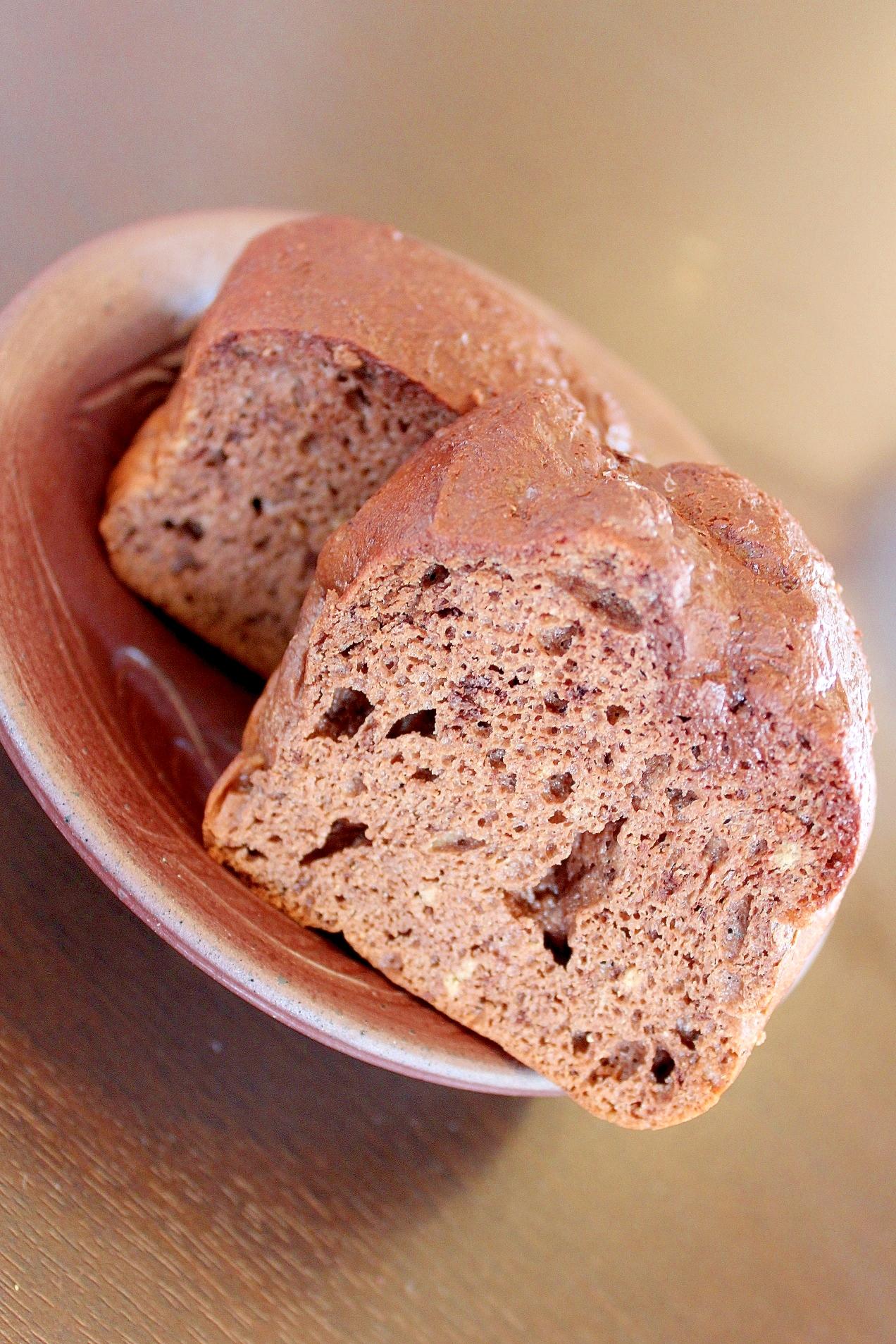 8. 混ぜて焼くだけ!発酵なしのチョコブランパン