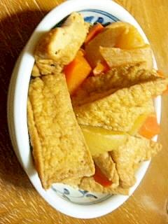 厚揚と大根とにんじんの煮物(*´ω`*)