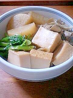 かけ蕎麦のつゆが余ったら…大根と厚揚げの煮物