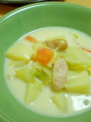 春野菜が美味しい☆優しい味の豆乳スープ*