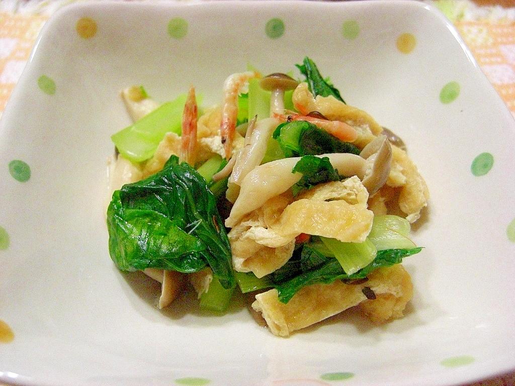小松菜とお揚げと桜えびのさっと煮♪