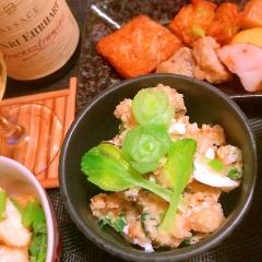 塩昆布と梅干の和風ポテトサラダ