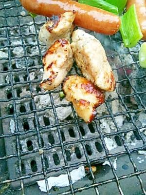 バーベキューにも、塩麹漬け鶏
