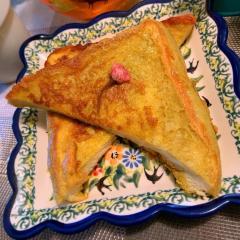 桜葉香るあまじょっぱい豆乳フレンチトースト