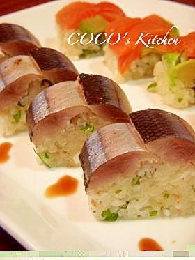 旬の秋刀魚&サーモンで☆洋風棒寿司