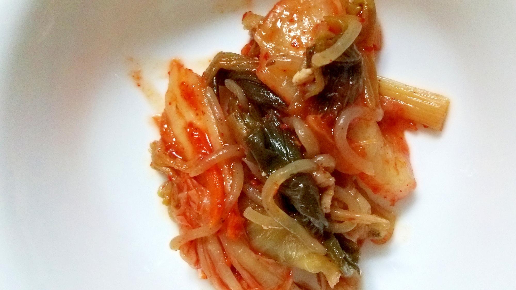 茄子キムチ炒め