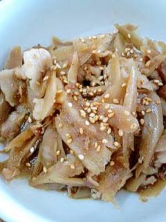 ご飯がすすむよ☆豚肉とごぼうのしぐれ煮