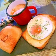 こっそりスイチリとろける卵のチーズトースト