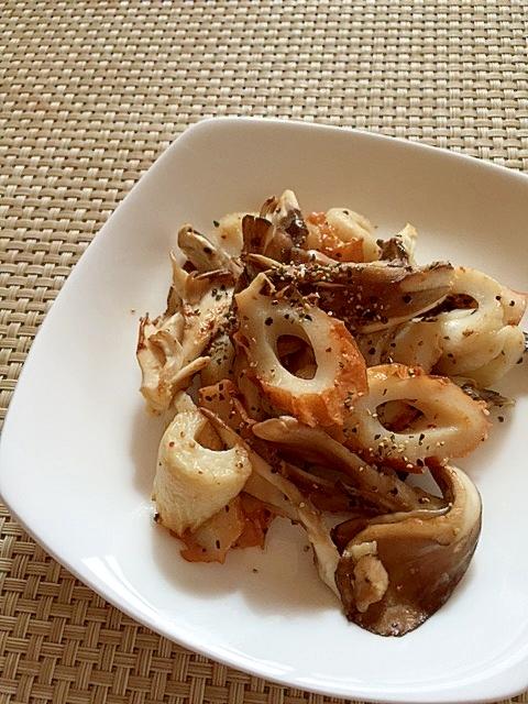 お弁当にちくわと舞茸のマヨペッパー炒め