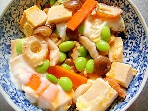 高野豆腐と野菜の玉子とじ