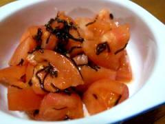 フレッシュトマトの昆布和え
