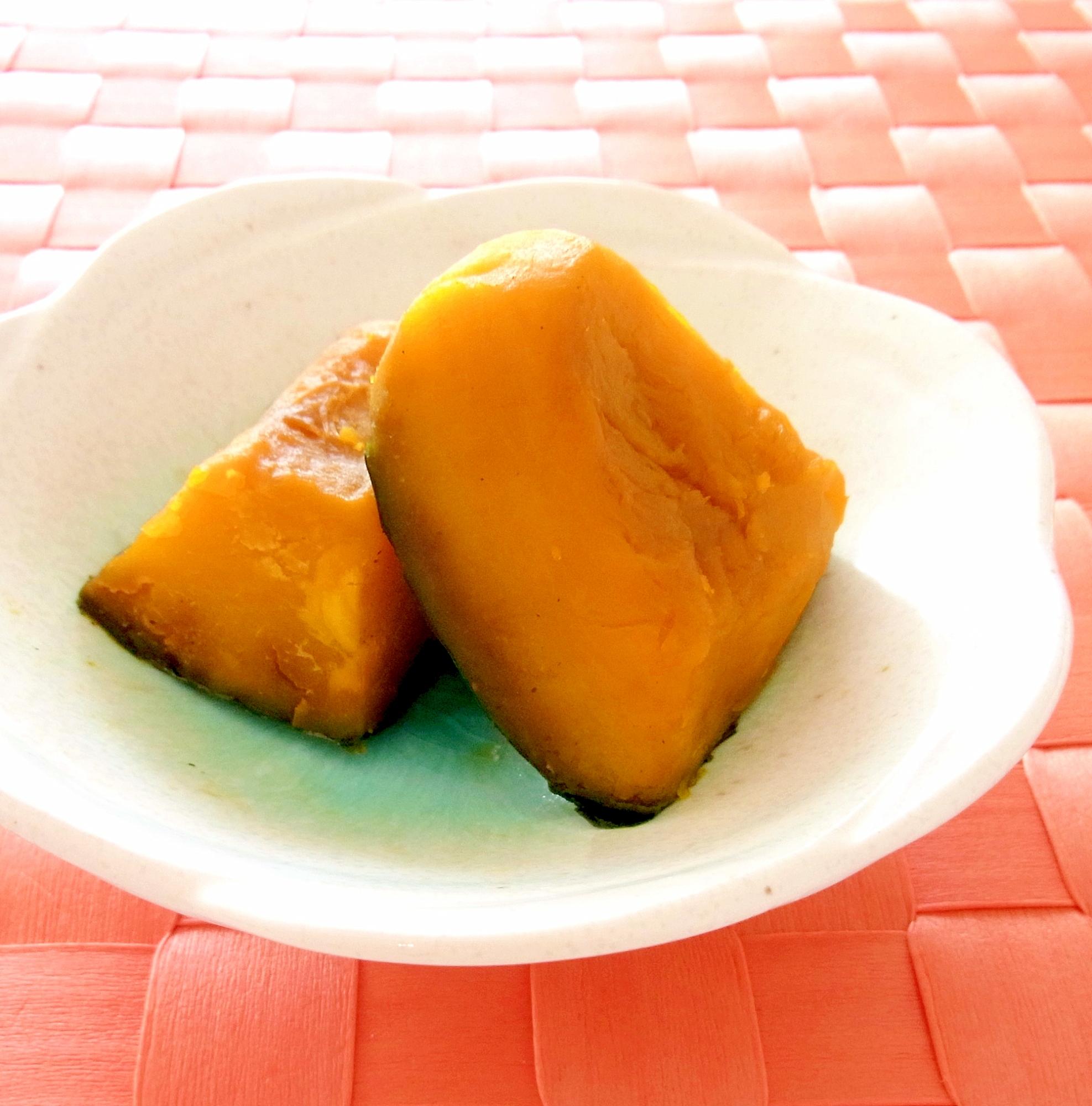 2. レンジでぱぱっとかぼちゃの煮物