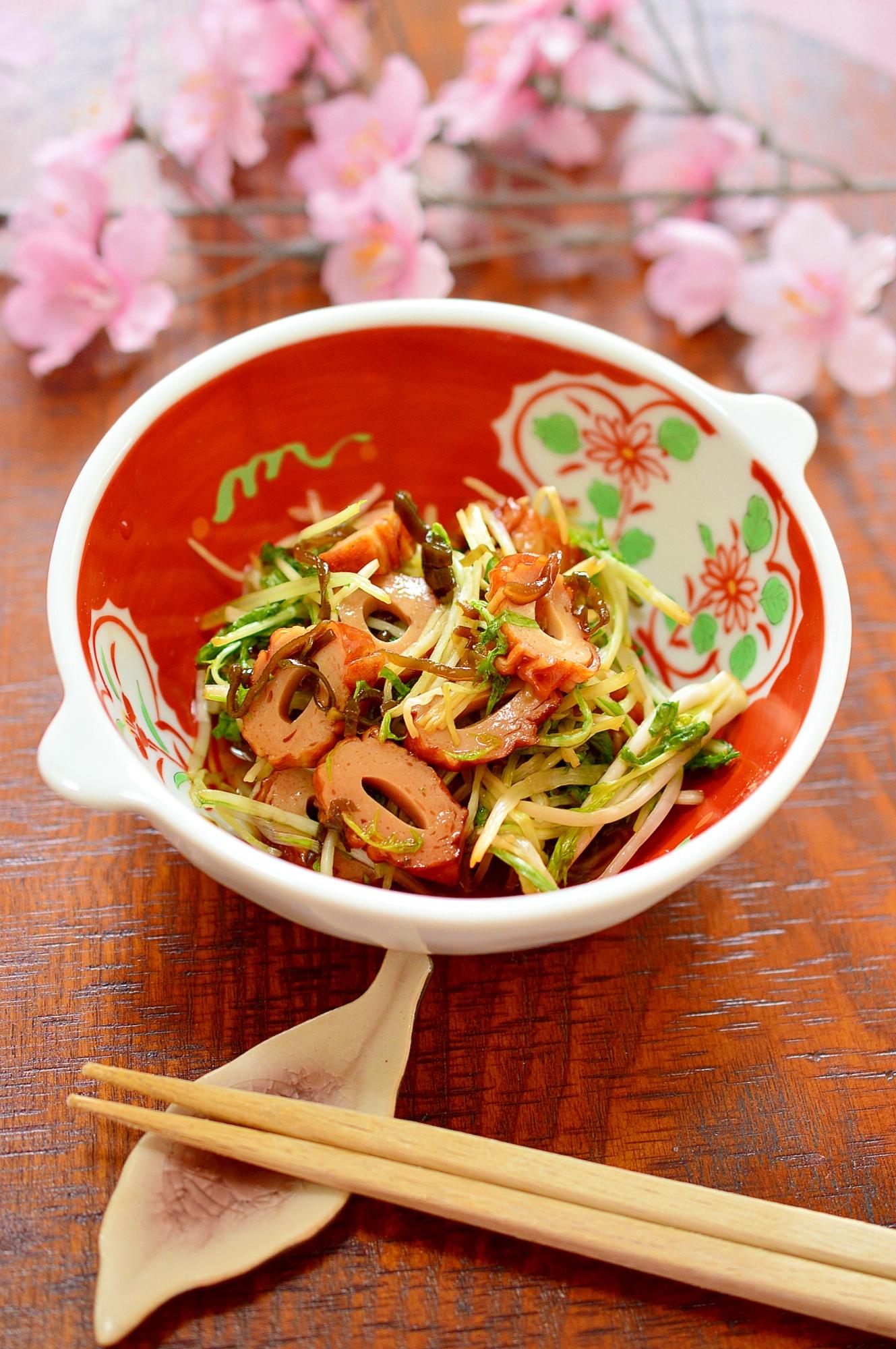 簡単!塩昆布でコク旨☆水菜と竹輪の漬け物