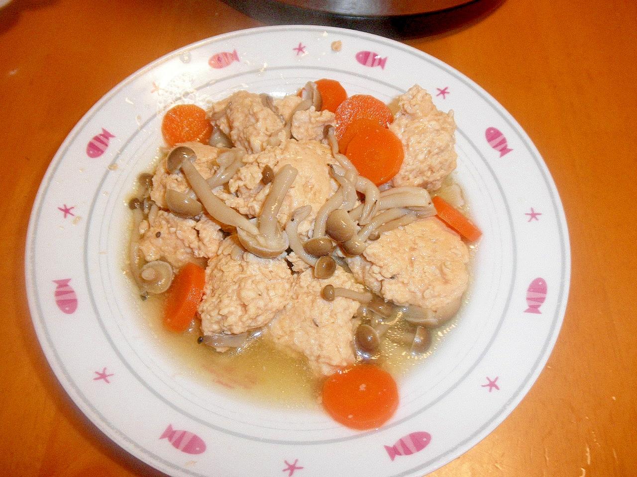 洋風鶏つくねの煮物
