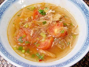 具沢山ピリ辛スープ