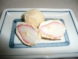 見た目もかわいい、いちごのきな粉クリームチーズ包み