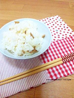 節分の豆で香ばしい豆ご飯