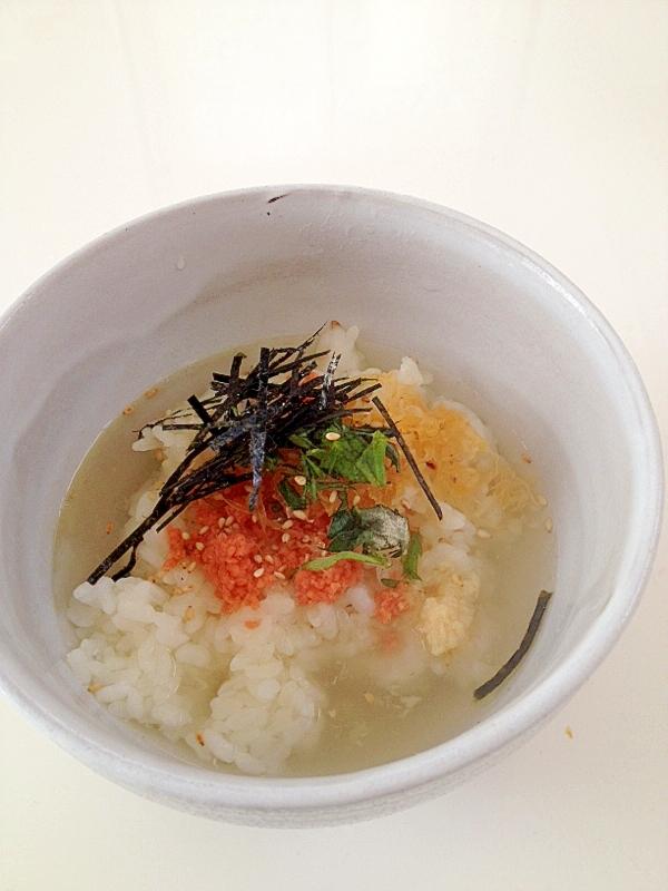 たっぷり生姜の鮭茶漬け