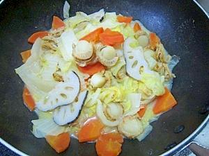 花粉症対策パート2:レンコンたっぷりの野菜蒸し煮