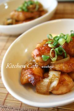 鶏肉と白菜の味噌炒め