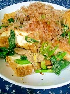 豚肉と小松菜の塩麹チャンプルー