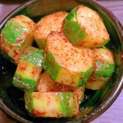 胡瓜のごまマヨネーズビネガー炒め