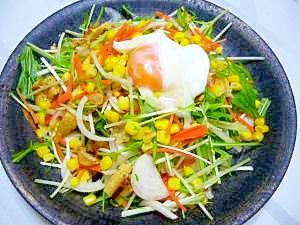居酒屋風♪楽しく食べられる豆腐のサラダ