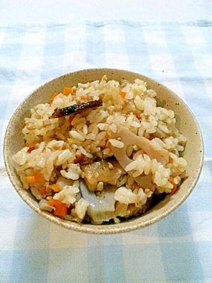 豚肉とレンコンの中華風混ぜご飯