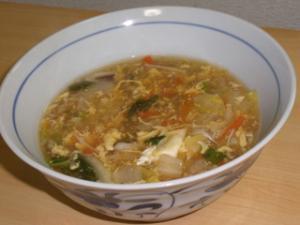 中華風かきたま仕立ての具沢山スープ