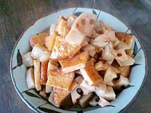 レンコンとこんにゃくの煮物