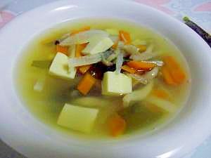 高野豆腐と野菜たっぷりスープ