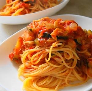 ツナとズッキーニのトマトソースパスタ レシピ・作り方 by kurapiyo2011|楽天レシピ