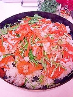 冷たいご飯でつくれる超簡単ちらし寿司♪