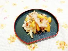味噌風味♪金柑と豚小間の生姜焼き