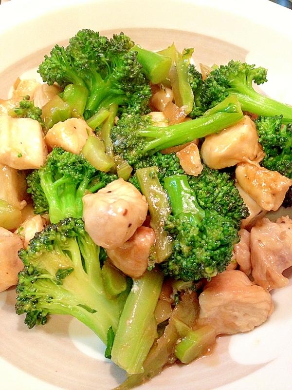 速攻晩御飯♪鶏肉とブロッコリーのオイスター炒め レシピ・作り方
