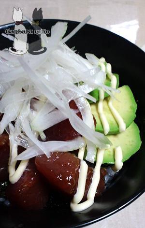 マグロとアボカドのマヨネーズ丼