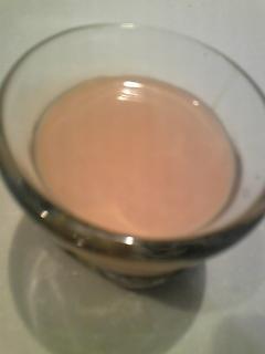 ミロと豆乳と黄な粉のチョコドリンク♪