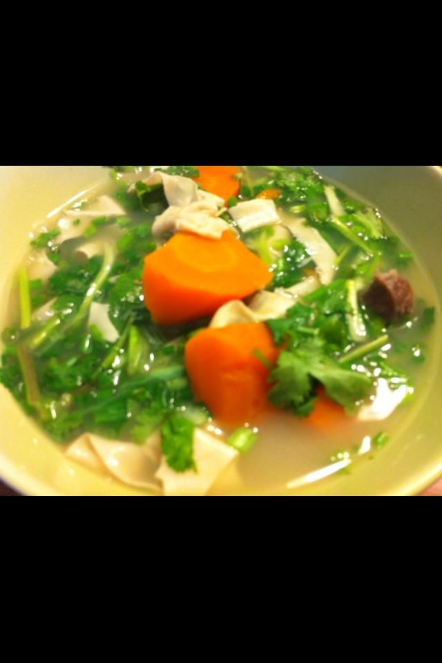 ラム肉の煮込みスープ