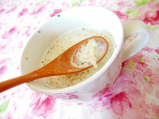 エノキとバジルとWココナッツのポタージュスープ