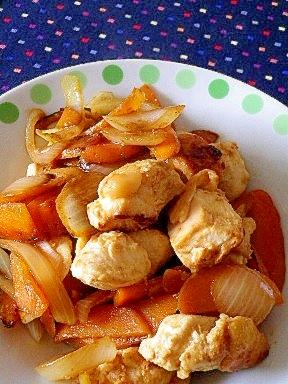 粕漬け鶏とニンジンの炒めもの