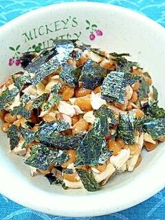 納豆の食べ方-焼きさんま♪