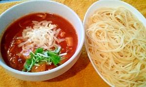 1. トマトソースdeつけスパゲティ
