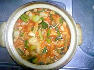 野菜たっぷり☆心からポカポカ☆豚キムチ雑炊