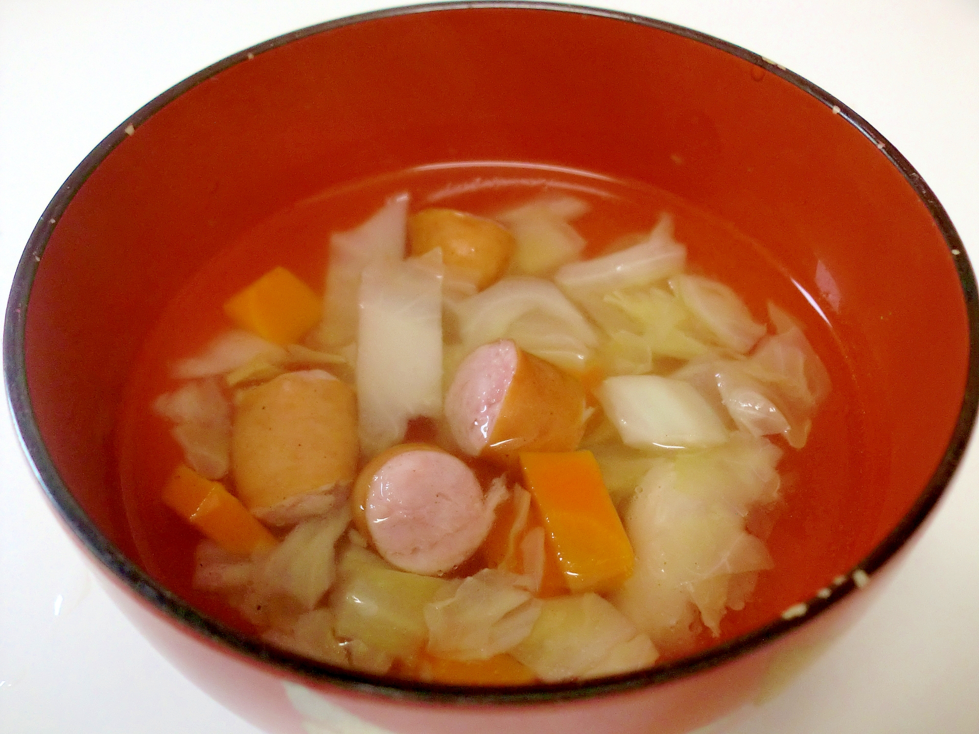 子どもの野菜嫌い克服♪ウィンナー入り中華スープ