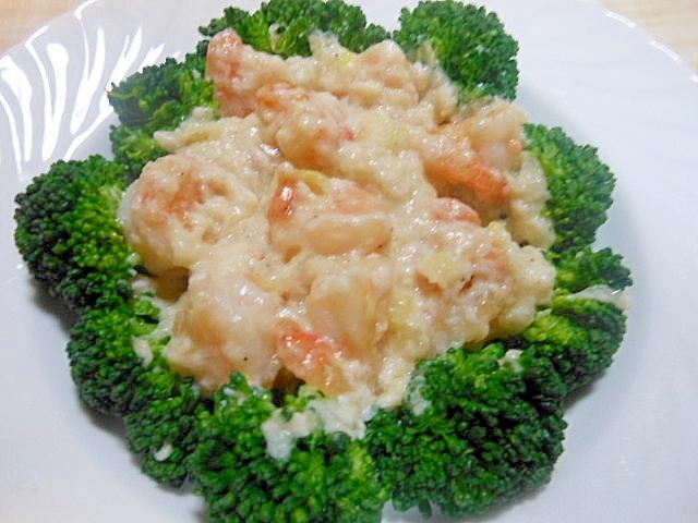 12. ブロッコリーとむきエビの卵白炒め