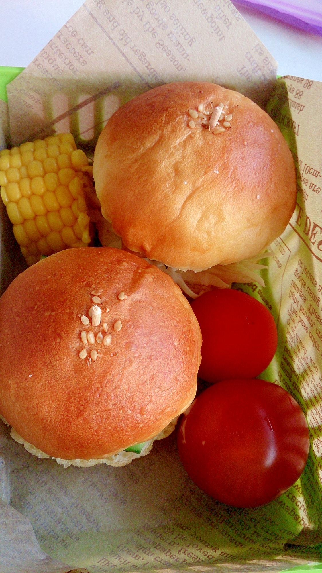 子供が喜ぶ♪ハンバーガー弁当
