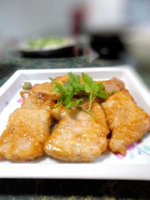 簡単主菜★豚肉の柚子胡椒ポン酢絡め