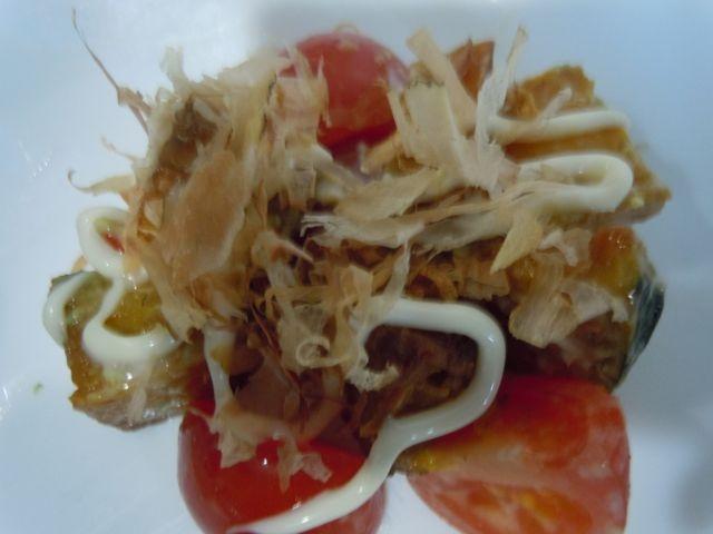 カボチャとトマトのおかかサラダ