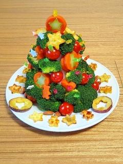 うちのサラダ「クリスマスツリーのサラダ★1日目」