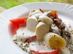 牛肉とバナナの生クリームソース